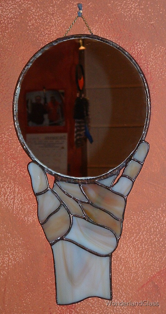 a simple hand mirror by WonderlandGlass