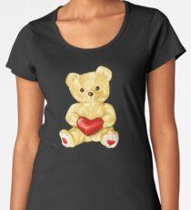 Cute Teddy Bear Pink Pattern Women's Premium T-Shirt