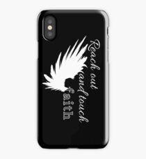 Reach out and touch faith -white iPhone Case/Skin