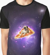 Pizza Pug Graphic T-Shirt