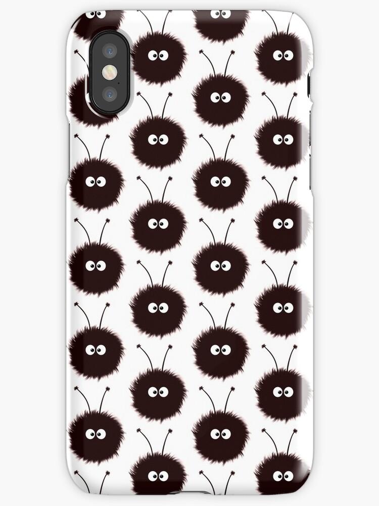 Black And White Cute Dazzled Bugs Pattern Case by Boriana Giormova