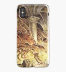 Bilbo and Smaug the Dragon iPhone Case