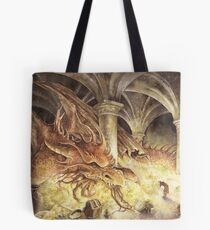 Bilbo and Smaug the Dragon Tote Bag