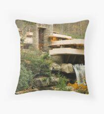 Frank Lloyd Wright Falling water Throw Pillow