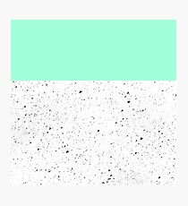 Geometric Marble And Mint Green Photographic Print