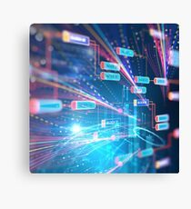 Abstract Futuristic infographic. Canvas Print