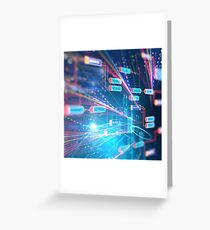 Abstract Futuristic infographic. Greeting Card