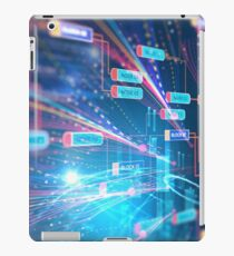 Abstract Futuristic infographic. iPad Case/Skin