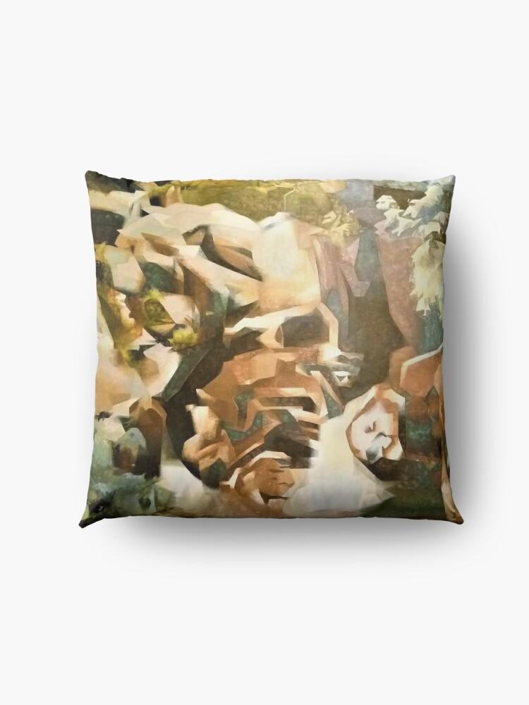 Alternate view of modern art Floor Pillow