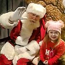 Great Granddaughter Laicey taken with Santa by AnnDixon
