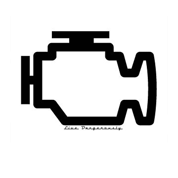 Check engine (live dangerously) (black) by RobertBell