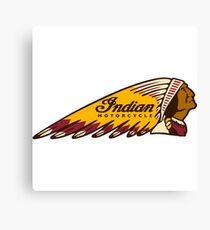 Indian Motorcycle Fan Art Logo Design Shirt Canvas Print