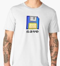 Save : Pixel Floppy Disk Men's Premium T-Shirt