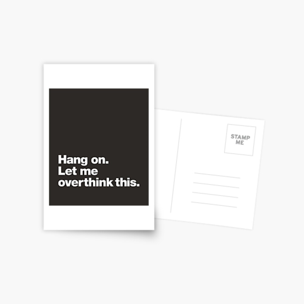 Hang on. Let me overthink this. Postcard