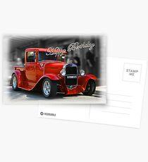 red car birthday card Postcards