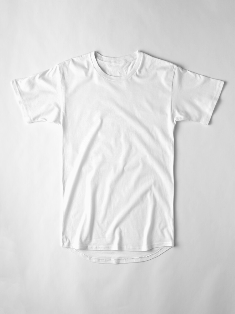 Alternate view of Optical Illusion Minimal Lines Long T-Shirt