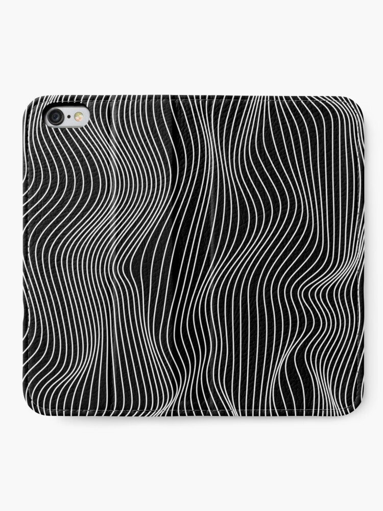 Alternate view of Optical Illusion Minimal Lines iPhone Wallet