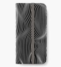 Minimale Linien der optischen Illusion iPhone Flip-Case/Hülle/Klebefolie