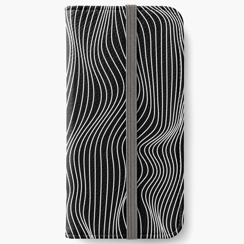Optical Illusion Minimal Lines iPhone Wallet