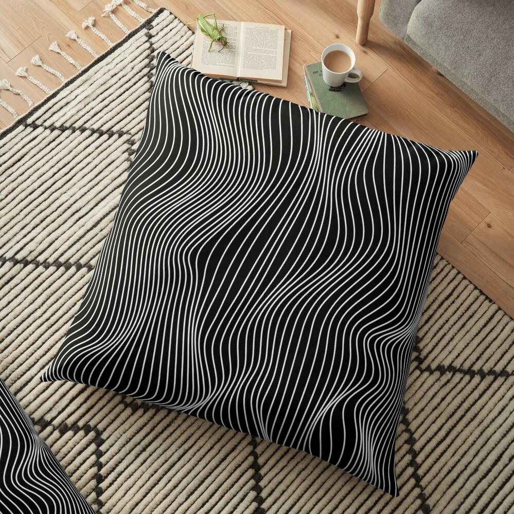 Optical Illusion Minimal Lines Floor Pillow