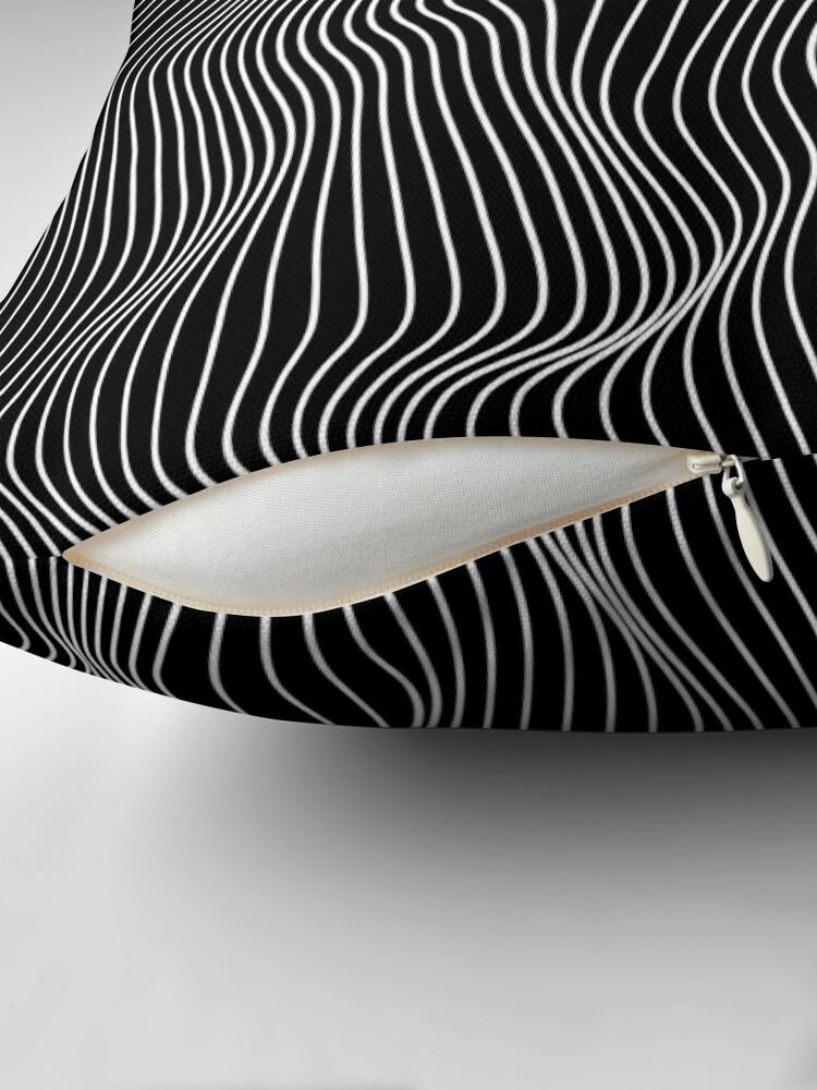 Alternate view of Optical Illusion Minimal Lines Floor Pillow