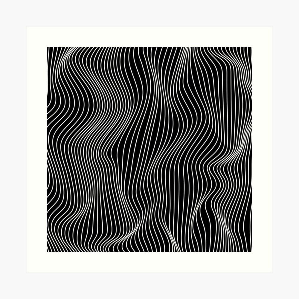 Optical Illusion Minimal Lines Art Print