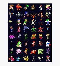 8-Bit Heroes Photographic Print