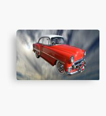 Red Classic Car From The 50s 60s Canvas Print