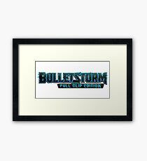 Bulletstorm full clip edition logo Framed Print