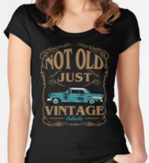 Not Old Just Vintage American Classic Car Women's Fitted Scoop T-Shirt