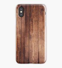 Dark Hard Wood Floor iPhone Case/Skin