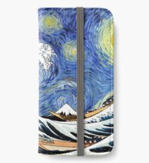 Iconic Starry Night Wave of Kanagawa iPhone Wallet/Case/Skin