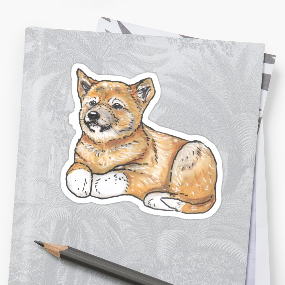 Dingo dog pup - Animal series Sticker