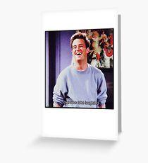 nervous fake laughter Greeting Card