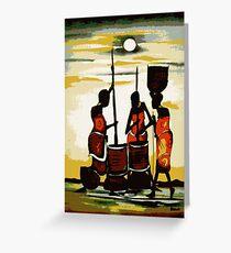Masai sunrise Greeting Card