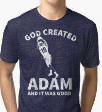 Funny Adam Minnesota Football  Tri-blend T-Shirt
