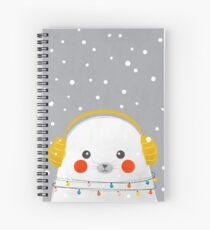 Christmas Baby Seal Spiral Notebook