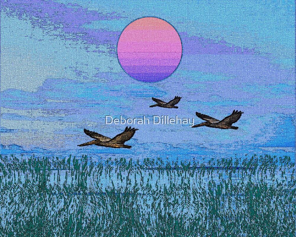 Pelicans in the Morning by Deborah McCormick
