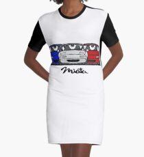 MX5 Miata NA Trio Graphic T-Shirt Dress