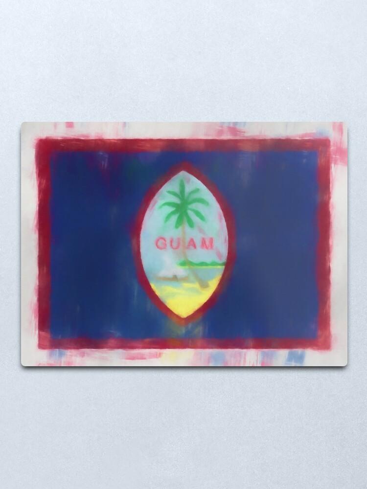 Alternate view of Guam Flag Reworked No. 66, Series 1 Metal Print
