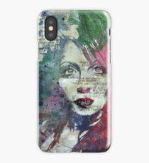 Farewell, Mona Lisa (graffiti portrait painting, magnolia flowers) iPhone Case/Skin