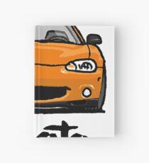 MX5 Miata NB Orange Hardcover Journal