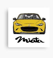 MX5 Miata ND Yellow Canvas Print