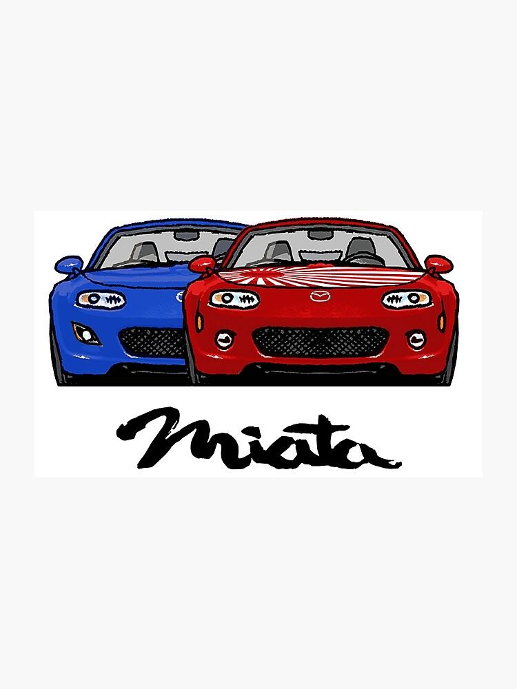 MX5 Miata NC Blue-Red | Photographic Print
