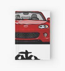 MX5 Miata NC Blue-Red Hardcover Journal