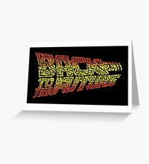 """Typo """"Back To The Future"""" The Movie Greeting Card"""