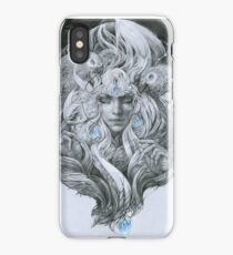 Fairy lady with African gray parrots. iPhone Case