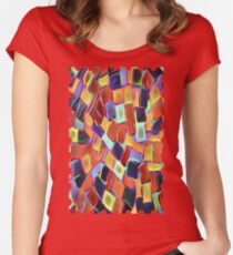 Colorful Sidewalk Women's Fitted Scoop T-Shirt