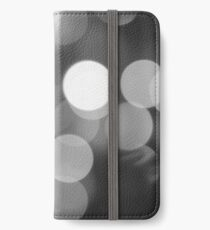 Bubbles of Light  Grey iPhone Wallet/Case/Skin