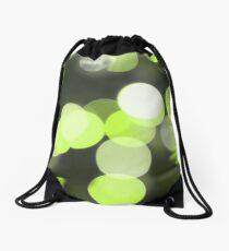Bubbles of Light  Lime Drawstring Bag